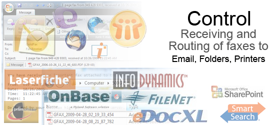 Control Receiving and Routing of Faxes
