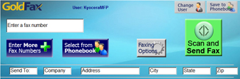 Send Faxes from any Kyocera HyPAS MFP.