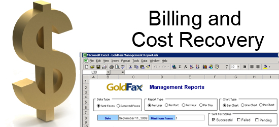 GoldFax Reports for Billing and Cost Recovery